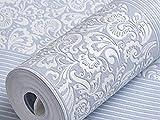Vliestapete Minimalistische Schlafzimmer Der Fernseher Im Wohnzimmer Hintergrund Tapete Vertikale Streifen,Blue