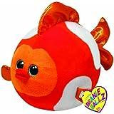 TY 7138038 - Bubbles Ball - Fisch orange, 12 cm, Beanie Ballz