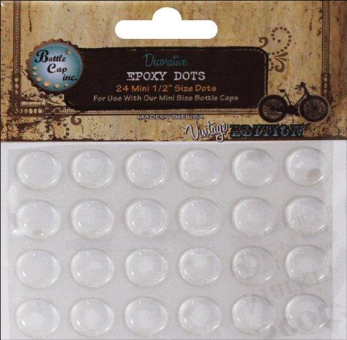 Bottle Cap 486488 Vintage Collection Mini Epoxy Dots .5 in. 24-Pkg - Vintage Collection Epoxy