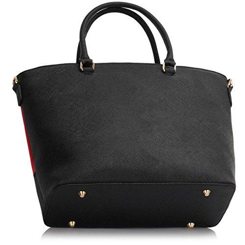 Xardi London, Borsa tote donna large Black/Red Style 2