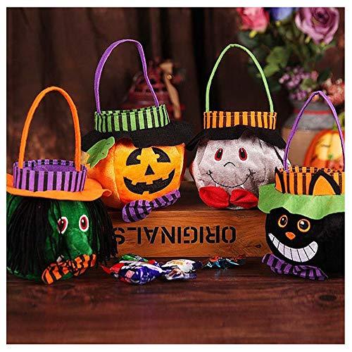 Niedliche Halloween Klassenzimmer Tür Ideen - DSYYF Halloween-Tragetaschen 4er-Pack Wiederverwendbare Trick-or-Treat-Taschen, Halloween-Partyartikel