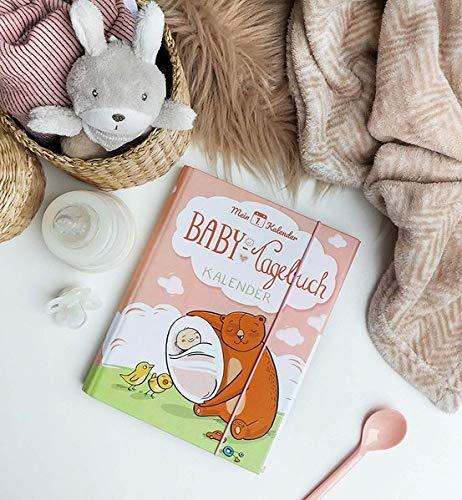 Mein 1. Kalender, Baby Tagebuch, Geschenk zur Geburt, 365 Tipps und Tricks, Rosa, A5