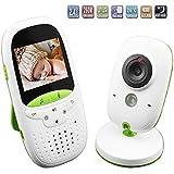"""Vigilabebés Inalambrico Bebé Monitor Inteligente Baby Monitor Cámara Digital con Intercomunicador de Vídeo LCD 2"""", Visión Nocturna, Monitoreo de Temperatura"""