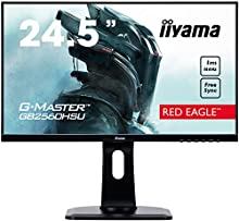 "iiyama G-MASTER Red Eagle GB2560HSU-B1 62,2 cm (24,5 "") Gaming Monitor Full-HD 144Hz (HDMI, DisplayPort, USB 2.0, 1ms Tempo di risposta, FreeSync, Regolabile in altezza, Pivot) Nero"