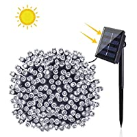 BOLWEO 200 LED Solar Powered String Lights,72ft 8 Modes Outdoor Fairy Lights IP65 Waterproof Festival Garden Fairy Lights for Tree, Patio, Garden, Wedding, Party, Holiday Decoration (Cool White)