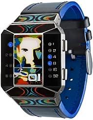Binary THE ONE SC112B1 - Reloj digital unisex con correa de piel negra (luz)