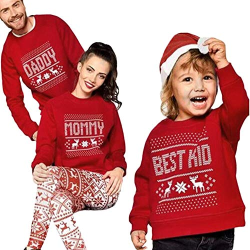 Ansenesna Familien Outfit Weihnachten Rot Mama Papa Kind -