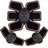 EMS Stimolatore Muscolare, Addominale Tonificante Cintura ABS, Trainer Wireless Portatile per Addome/Braccio/Gamba per Uomo o Donna