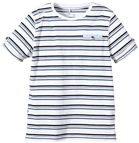 NAME IT - Hasmus Kids Ss Top 215, T-shirt per bambini e ragazzi, multicolore (apricot ice), 146 (Taglia produttore: 146-152)