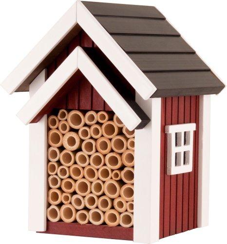 Rouge Nid Abeille Nichoir de jardin sauvage – Conçu pour les abeilles solitaires