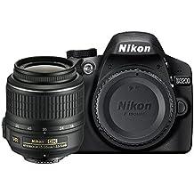 """Nikon D3200 - Cámara réflex digital de 24 Mp (pantalla 2.9"""", estabilizador, vídeo Full HD), color negro - kit con objetivo AF-S DX 18-55mm f/5.6 VR II [importado]"""