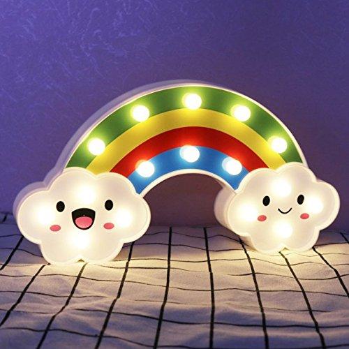 UChic 1 STÜCKE LED Regenbogen Bunte Nachtlicht Batterien Angetrieben Dekorative Leuchten Baby Nachttischlampen Kinder Spielzeug Decalskin Cover