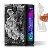Coque Gel TPU de Stuff4 / Coque pour Samsung Galaxy Note 4 / Koala Design /...