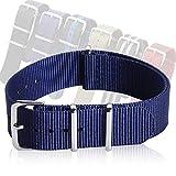 NATO Uhrenarmband, Nylon Zulu Band Stoff Uhrenarmbänder Mehrfarbig Breite 18 mm 20 mm 22 mm CHIMAERA