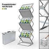 Faltbarer Prospektständer DIN A3 Querformat    doppelseitig    Flyerhalter    Katalogständer  ...