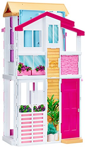 Image of Barbie DLY32 Three-Storey Townhouse Playset