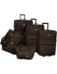 American Flyer Luggage Pemberly Buckles 5 Piece Set