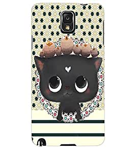 ColourCraft Cat Back Case Cover for SAMSUNG GALAXY NOTE 3