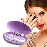 L Multifunktionales Nagellack Werkzeug Set Elektro-Schleifer Nagel Maniküre Set Nägel Schönheit Fünf in Einheit,Purple