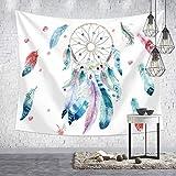 mmzki Hängende Stoff Nordic dekorativen Hintergrund Tuch Tapisserie dekorativen Wandteppich HT007 98 * 73cm