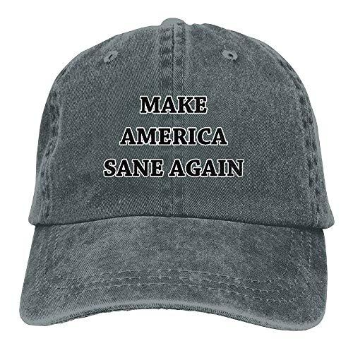 8d3de9e9 RAINNY Make America Sane Again Unisex Denim Bucket Hat Casual Snapback Caps