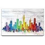 Bild handgemalt Malerei Gemälde Kunst Zenic Stadt Skyline New York City