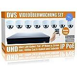 DVS Germany - 4K Videoüberwachung Komplett Set mit UHD IP-Rekorder und 8X 4K-Kameras - DVNNLHS8008-1000GB Festplatte