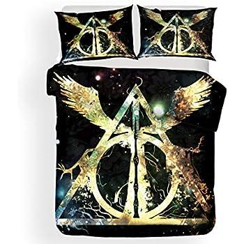 Literie Fonctionnelle Serviette de Toilette Rainbowfun.de Harry Potter Linge de Lit /& Serviette de Bain Literie Set