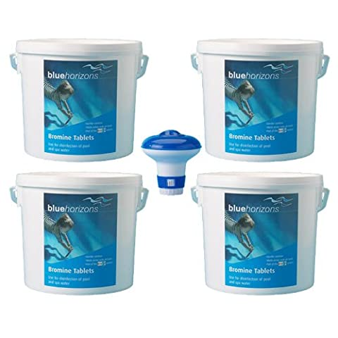 Happy Hot Tubs 20KG Bromine Tablets + Free Dispenser Bargain Bucket Hot Tub Swimming Pool Brom