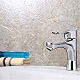 LHbox Bad Armatur in Bad für Waschbecken Waschtisch Wasserhahn Waschtischarmatur Winkel Ventil Nach Unten in die Wasser-, Abwasser-, Zubehör Edelstahl Becken Edelstahl Fallrohr