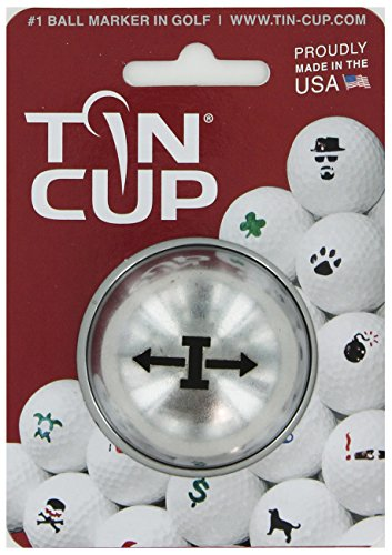 TIN CUP. GOLF BALL MARKER SYSTEM. ALPHA PLAYERS SERIES. LETTER I