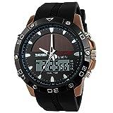 Vich Herren Sport Uhren Top Marke Luxus-Energie Solar Armbanduhr Digital Uhren Quarz Multifunktional outdoor–Kaffee Zifferblatt