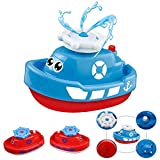 Itian Bathtub and Swimming pool Bath Toys Electric Boat Shower Rotating Water Splash Water Bath Fun Game for Baby Children