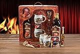 Feuerzangentasse Geschenkset Wurzelholz-Design Feuerzangenbowle weiß Weihnachten