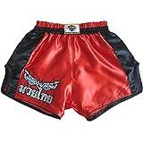 Katemanee Muay Thai Hose Kickboxen MMA Gym Shorts Damen Herren X-Large (Waist 32')