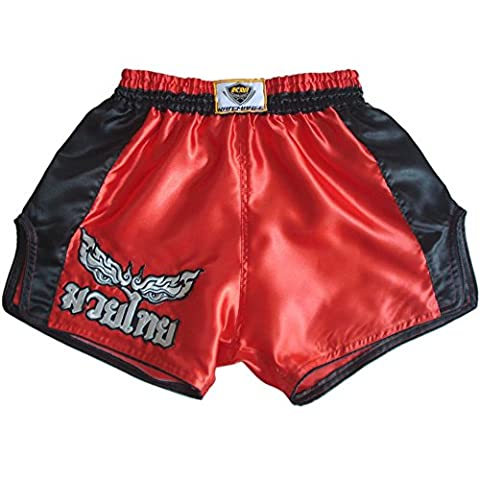 Katemanee Muay Thai Hose Kickboxen MMA Gym Shorts Damen Herren X-Large (Waist 32