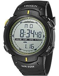 aca38f554096 nuevo reloj caliente estilo unisex deporte infantil informal al aire libre  llevado digital agradable correa de caucho…