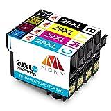 Mony Kompatibel Druckerpatronen Ersatz für Epson 29 XL 29XL (1 Schwarz, 1 Blau, 1 Magenta, 1 Gelb) für Epson Expression Home XP-342 XP-245 XP-332 XP-235 XP-432 XP-335 XP-435 XP-345 Drucker