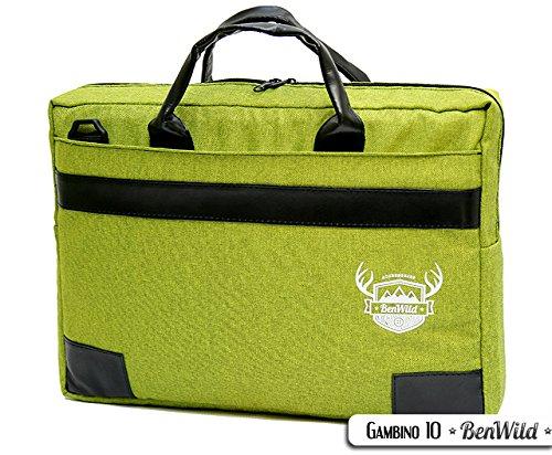Laptop Notebook UNI MINIERT **11 FARBEN** Aktentasche Hülle Case 15,6 - 17,0 - 17,3 ZOLL Laptoptasche NEU 41x31x6cm oder 38x28x6cm (15-6 ZOLL, Grün)