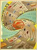 ABLERTRADE Visit The URSS Automobile Itinerari Russia Vintage Travel Art Poster Targa in Metallo con Stampa da Parete 20,3 x 30,5 cm