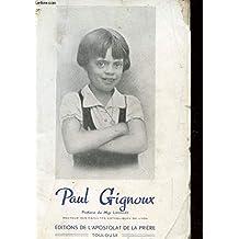 PAUL PIGNOUX 1928-1937