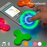 InnovaGoods Ledspinner met Luidspreker en Bluetooth Wit
