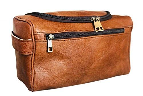 CH traditionnel fait main de qualité supérieure étui de beauté trousse de beauté étui en cuir sac en cuir trousse de toilette sac culture pour homme femme Voyage et utilisation quotidienne