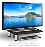 RICOO Universal TV Ständer Fernsehtisch LCD Stand Fernsehstand FS051-B LED Fernseher Untergestell Tischständer Tisch Aufsatz Flachbildschirm Flachbildfernseher PC Monitor Bildschirm Erhöhung Schwarz