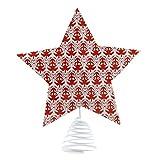 Noma puntale per albero di Natale a forma di stella: 24cm: rosso &...