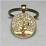Gustav Klimt Tree Of Life Anhänger Schlüsselanhänger, Baum des Lebens Schlüsselanhänger, Glas Dome Art Schlüsselanhänger