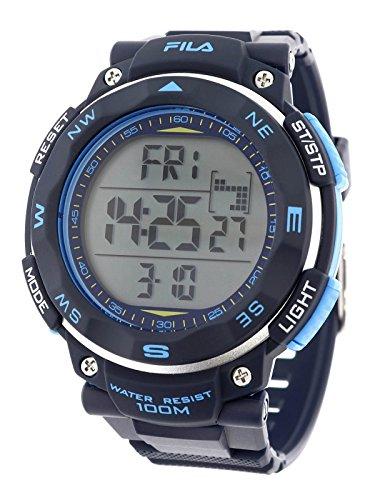 Fila sportliche Herrenuhr Digital 10 BAR Licht Alarm 38-824-002