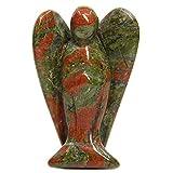 Scarica Libro Statuetta a forma di angelo custode in pietra naturale 5 cm Unakite 5 08 cm (PDF,EPUB,MOBI) Online Italiano Gratis