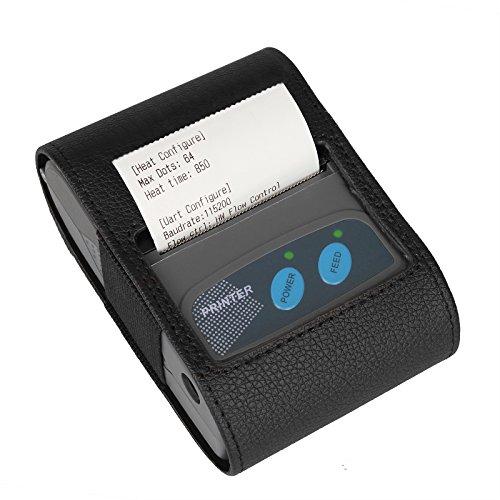 TSSS 58mm Handheld thermischer Quittungsdrucker - Tragbar Wireless Kassendrucker Bondrucker für iOS , Android , Windows Systeme kompatibel mit ESC / POS Druckbefehle Set 90mm Hochgeschwindigkeits mit Wiederaufladbar Batterie (Gewicht 500g)