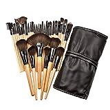 32pcs / Set pinceaux de Maquillage Pinceau de Maquillage Brosse de Taille compacte Fondation - en Bois